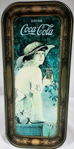 WWI Girl Coca Cola Serving Tray