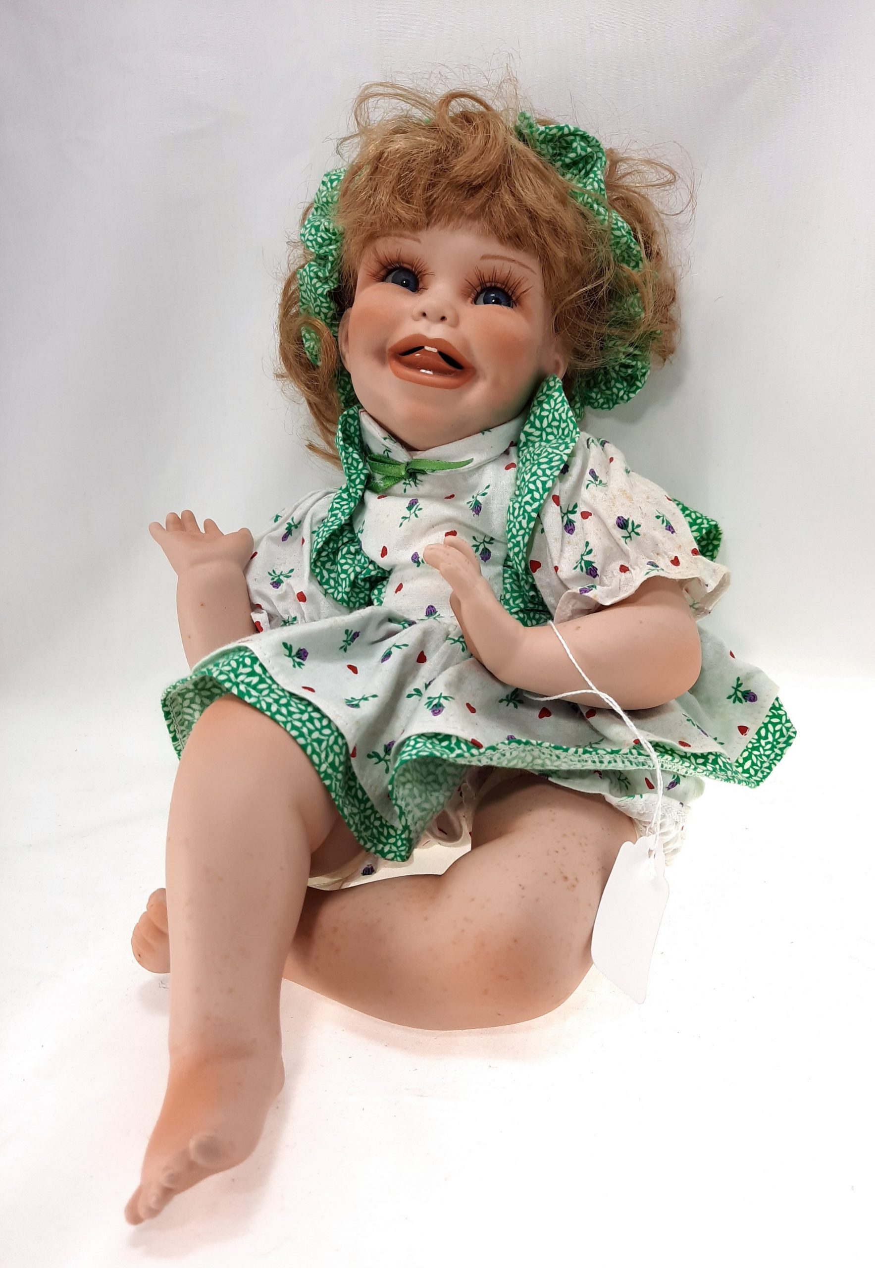 Silly Happy Baby Girl Porcelain Doll | Best Pawn Shop ...