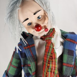 Porcelain Hobo Clown Doll