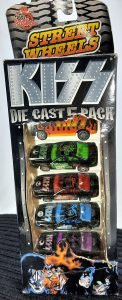 1999 Kiss Die Cast Cars 5 Pack 1:64 Scale