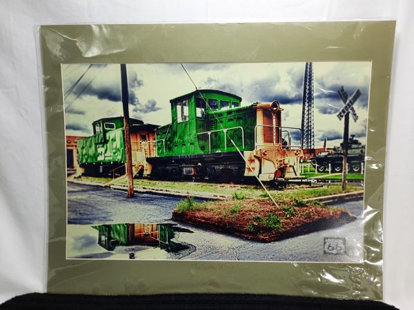 reflecting in time train art work photograph