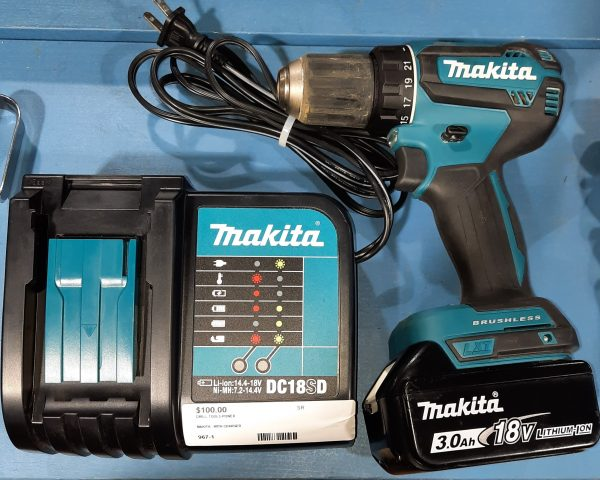 makita drill with charger and battery