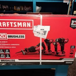 craftsman 20V brushless 4 tool combo kit Drill Driver impact driver reciprocating saw sawsall led task light flashlight charger