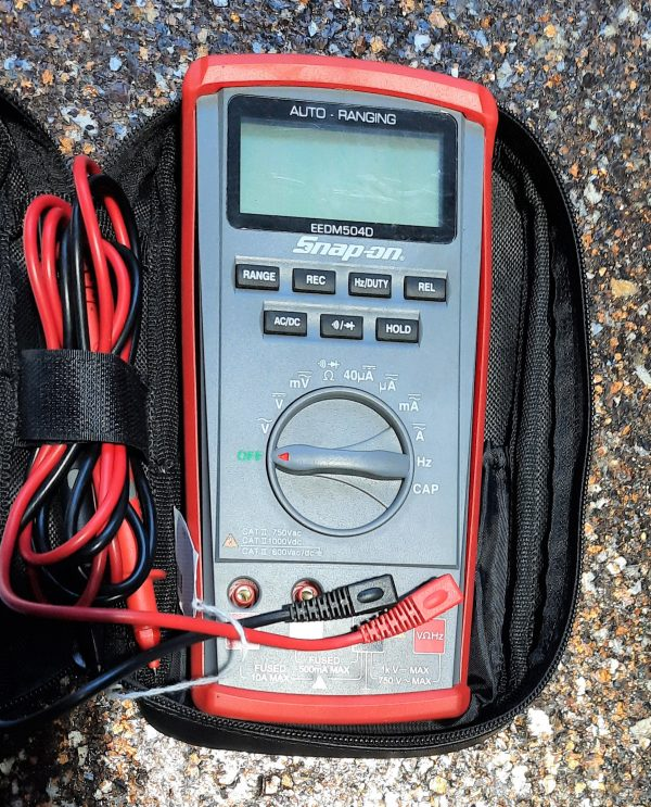 snap on auto ranging multimeter car truck tester diagnostic